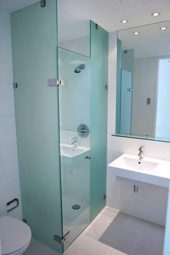 Etched Glass Shower Enclosure Frameless Shower Doors