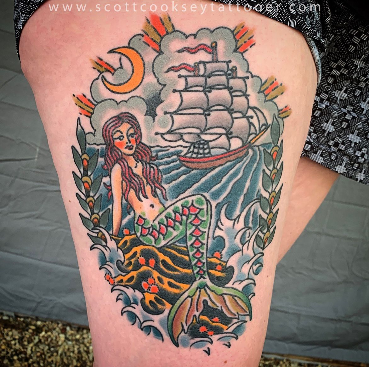 Cooksey used american traditional tattoo imagery to create