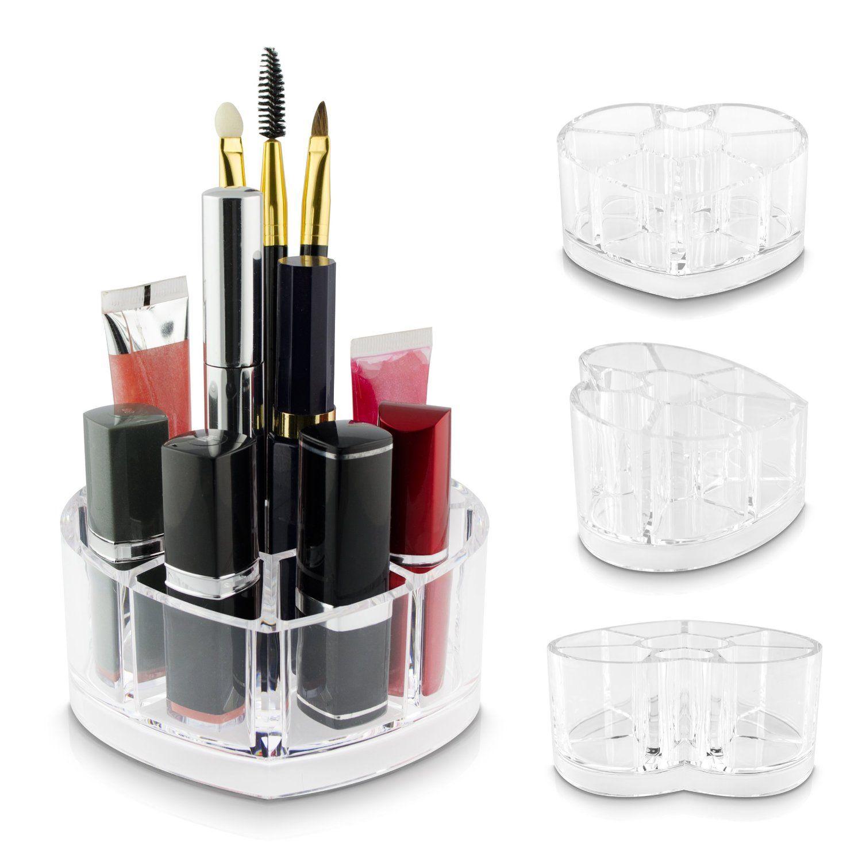 Venkon  Organizador Maquillaje Caja De Coraz N Ordenar Y