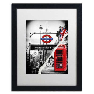 "Trademark Art Westminster Station by Philippe Hugonnard Framed Photographic Print Size: 20"" H x 16"" W x 0.5"" D"