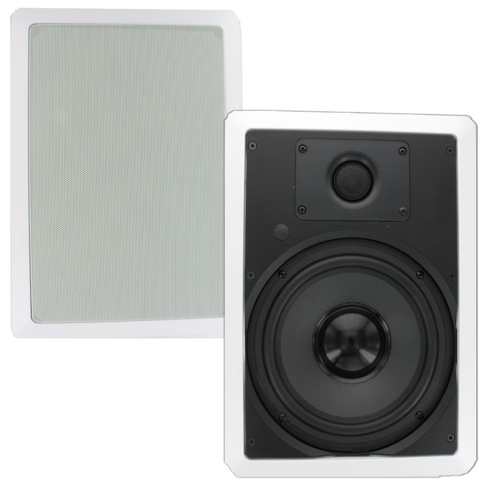 Theater Solutions TS80W In Wall 8-inch Surround Sound Home ...