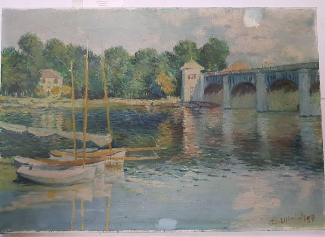 Bilderreinigung Restaurierung Und Einrahmungen Aus Der Galerie Wehr Monet Claudemonet Impressionen Impressionismus Gemalde Frame Art Painting