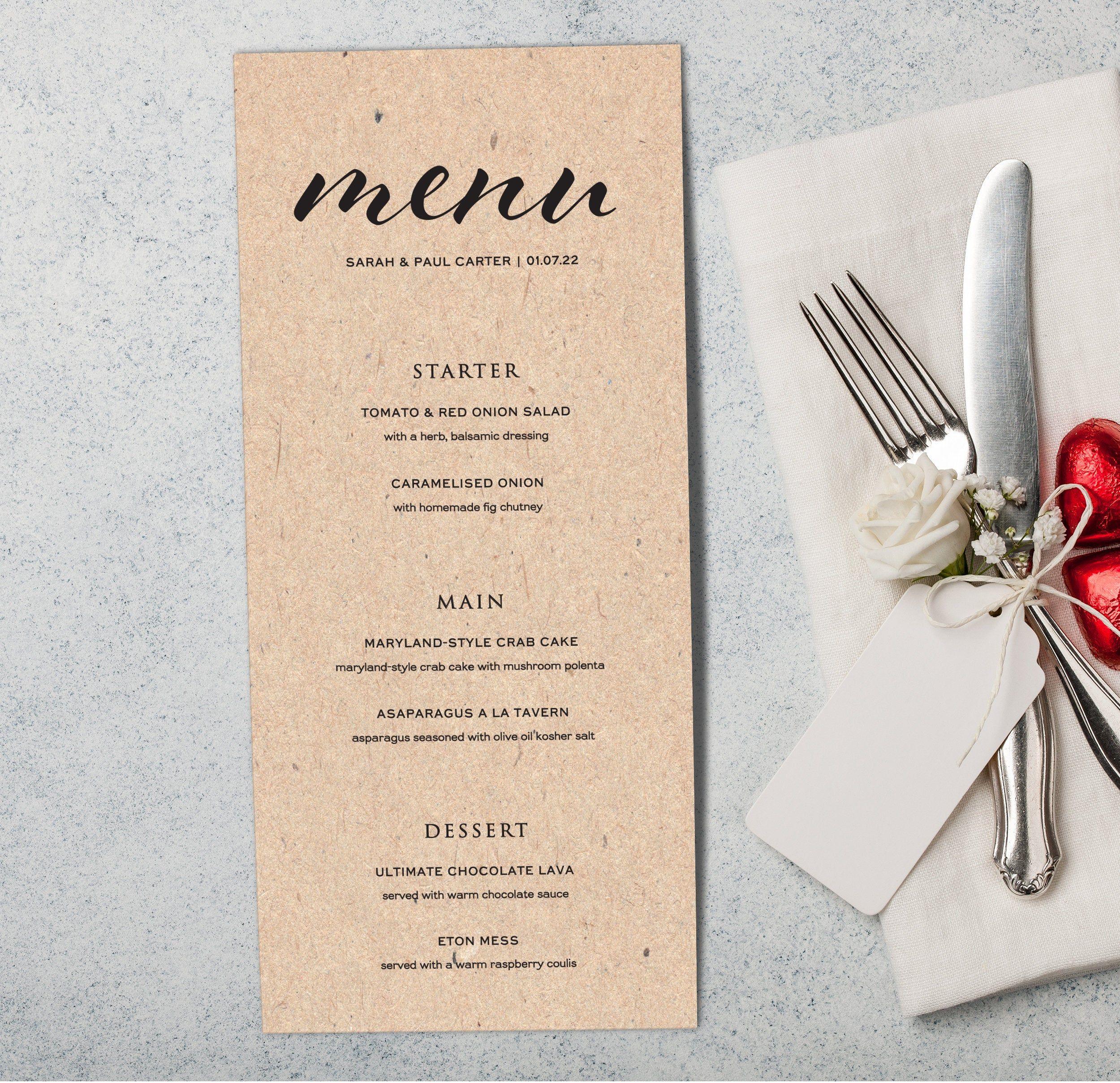 Wedding Breakfast Food Menu Wedding Reception Wedding Menu Card Drinks Menu Wedding Dinner Menus For Wedding