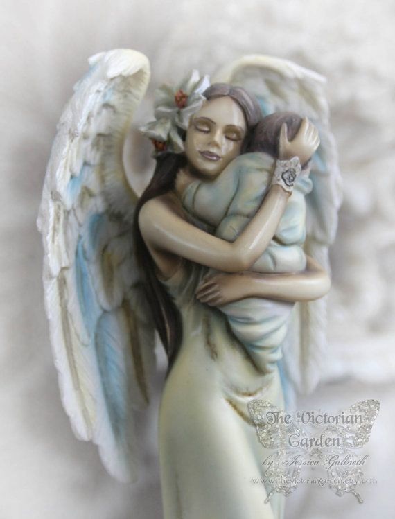 Comfort Angel With Baby Statue Motherhood Figurine Holding Newborn Jessica Galbreth Collectors On Etsy 25 00