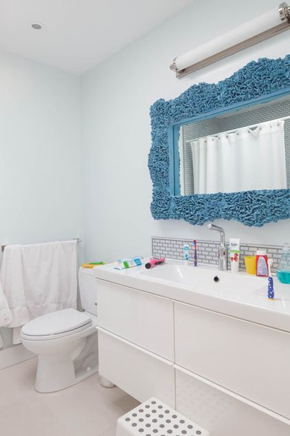 Super cool ideas for kids' bathrooms!