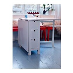 Norden Gateleg Table White Ikea Put Casters On Legs