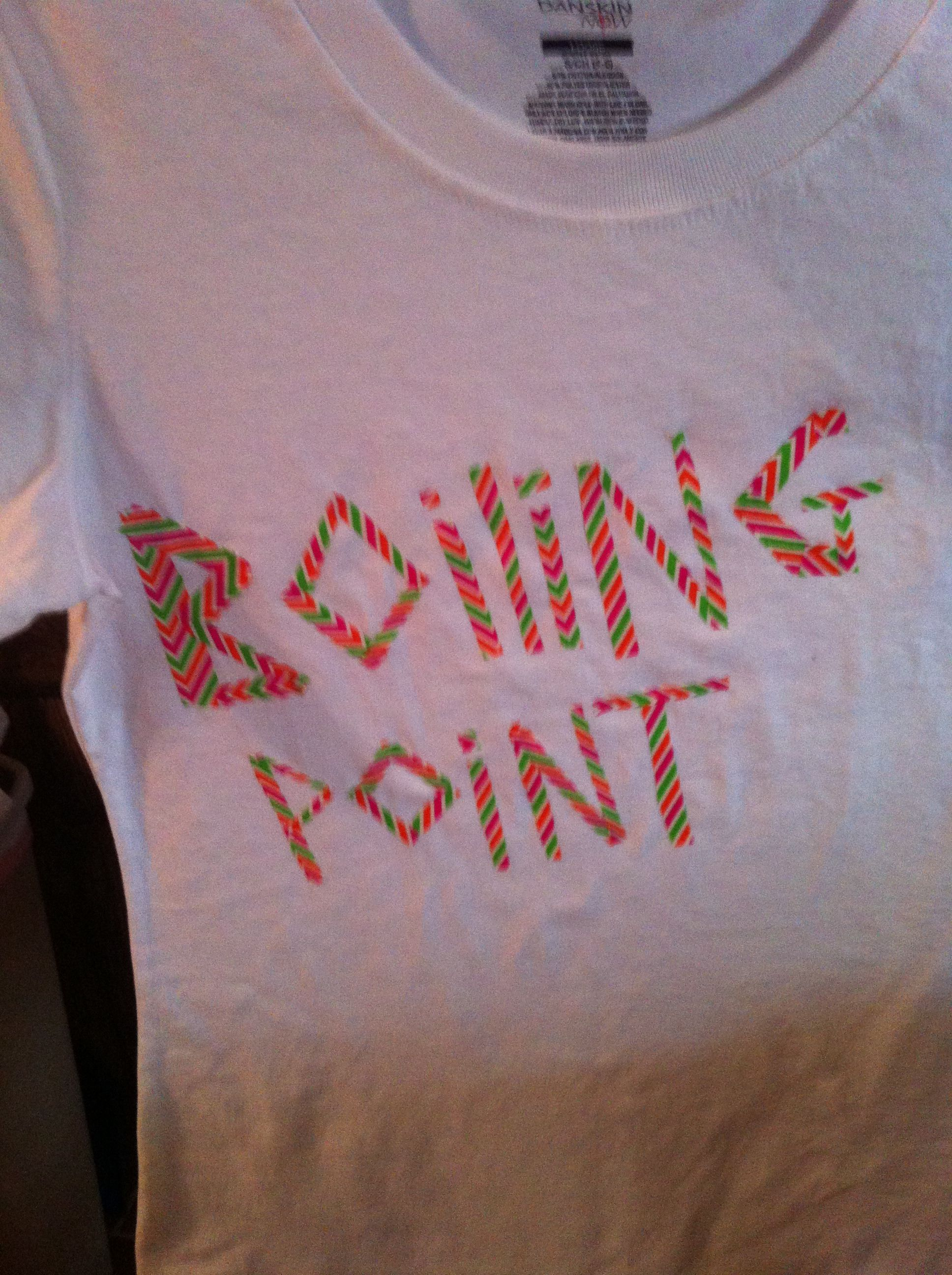 Shirt For The Color Run Duct Tape And A Plain White Tee