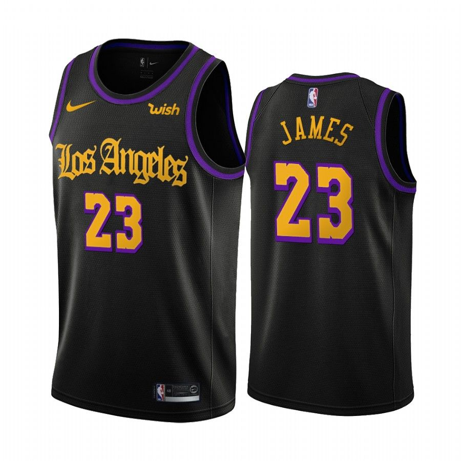 Men S Los Angeles Lakers Lebron James Black 2019 20 City Creative Jersey In 2020 Lebron James Framed Jersey Los Angeles Lakers