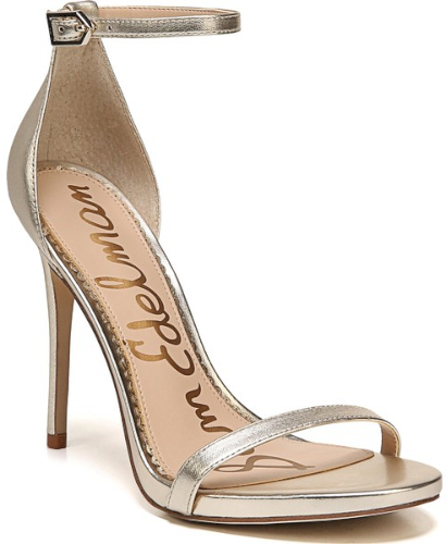 fdd02352d03f Sam Edelman Ariella Ankle Strap Sandal in Metallic. Slender straps bridge  the toe and encircle the ankle in this barely there sandal lifted by a ...