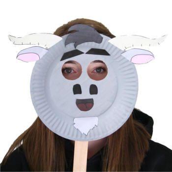 Paper Plate Goat Mask | School-Crafts | Goats, Goat art, Goat mask