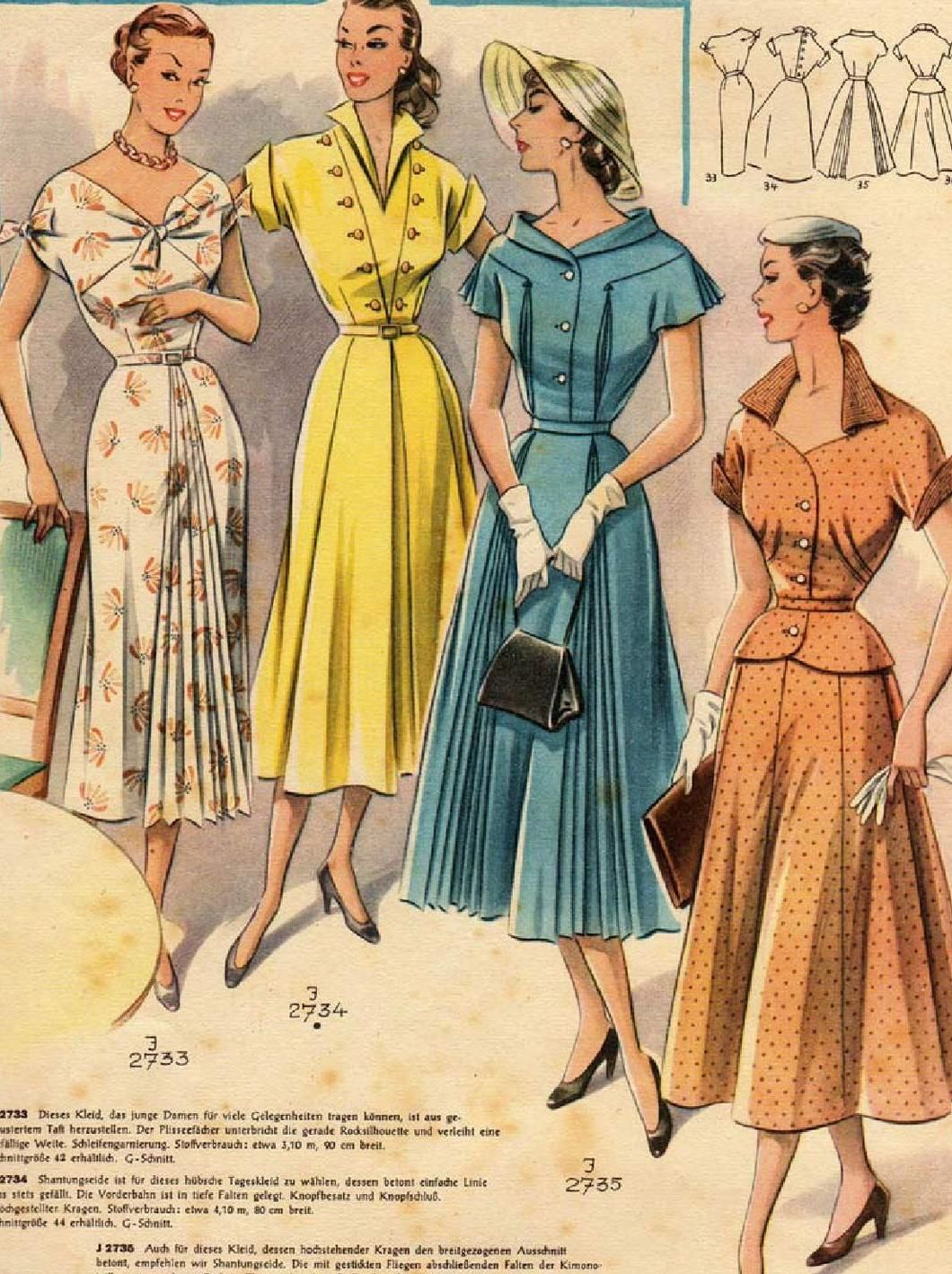 Modenschau | Modenschau, Vintage und Schnittmuster