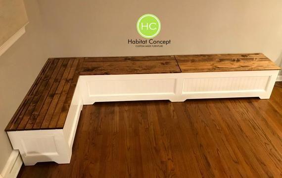 BanquetteCorner bench kitchen seatingL shaped bench | Etsy