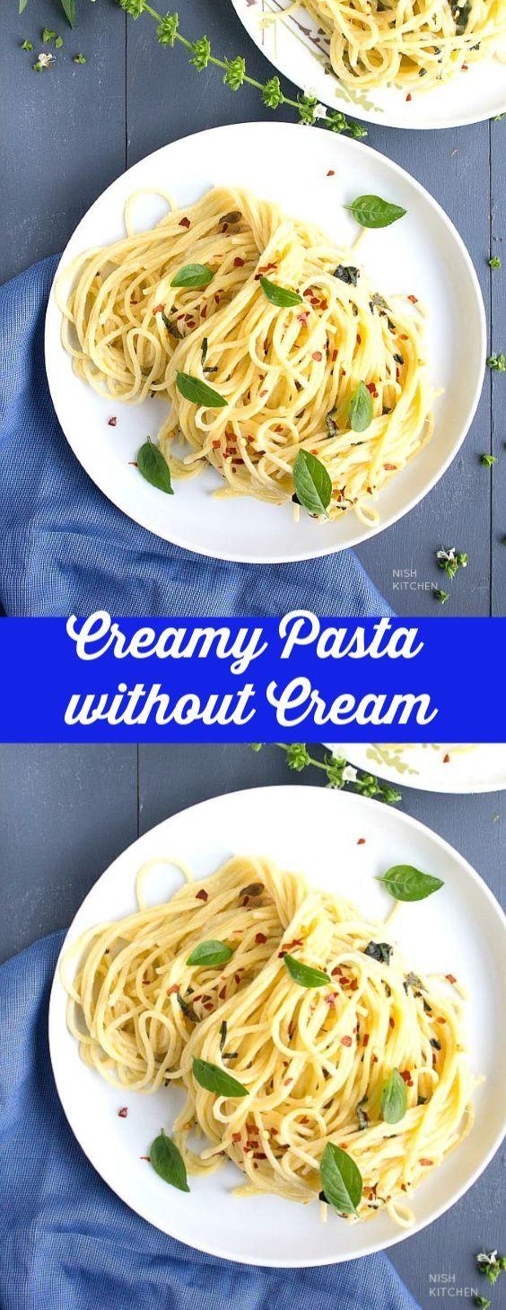 creamy pasta sauce without cream video nish kitchen in 2020 creamy pasta sauce creamy on hebbar s kitchen white sauce pasta id=72252