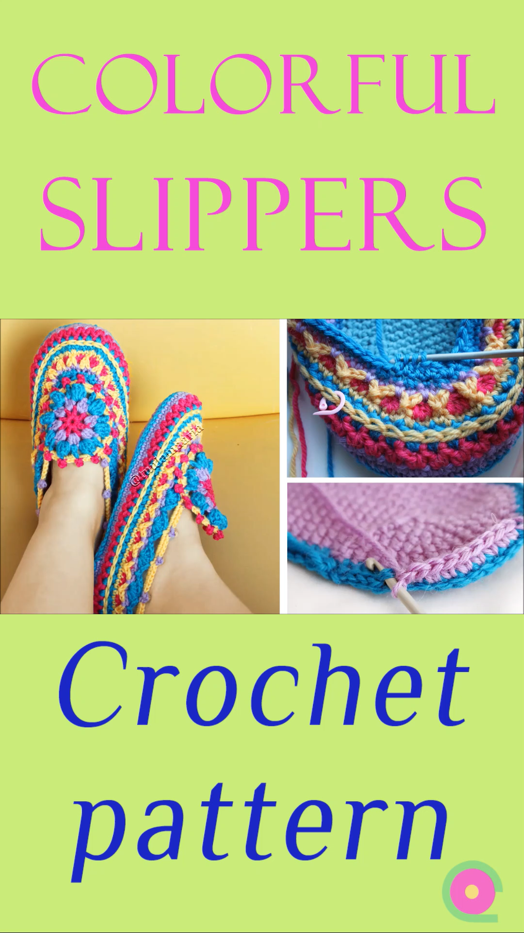 Photo of Colorful crochet slippers