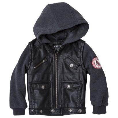 Urban Republic Toddler Boysu0026#39; Faux Leather Jacket W/ Fleece Hood And Sleeves Target | Gunny ...