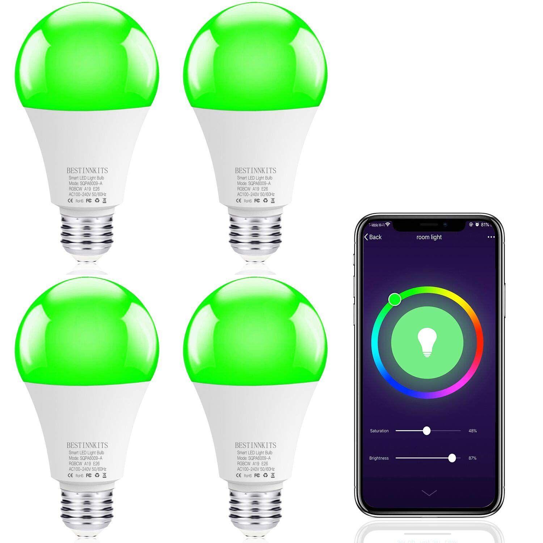 Smart Wifi Led Light Bulb Bestinnkit Warm White And Cool White And Color Changing Light Bulb A1 Color Changing Lights Led Smart Bulb Color Changing Light Bulb