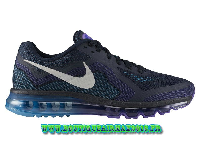 Nike Air Max 2014 Chaussures Nike Pas Cher Homme Obsidian/Voile/violet  621077-