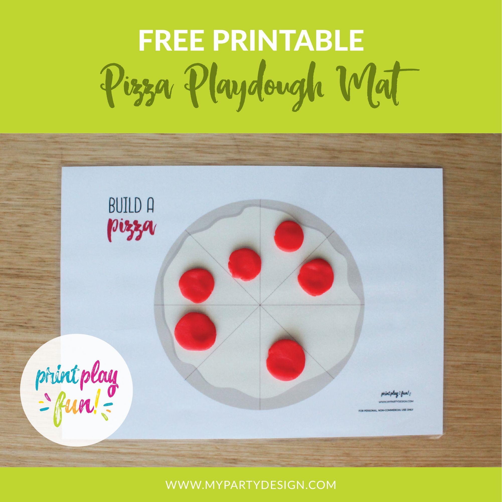 Free Printable Pizza Playdough Mat My Party Design Playdough Playdough Activities Playdough Fun [ 2001 x 2001 Pixel ]