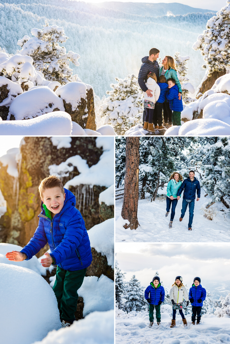 Snowy Family Pictures