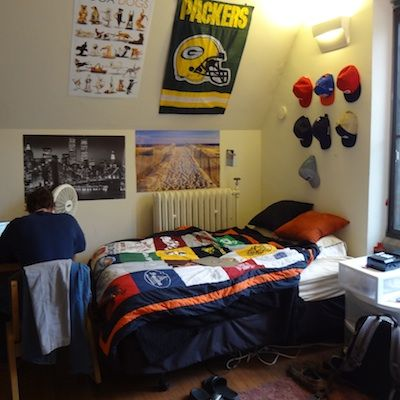 Sporty T Shirt Blanket For Guys Preppy College Dorm Room