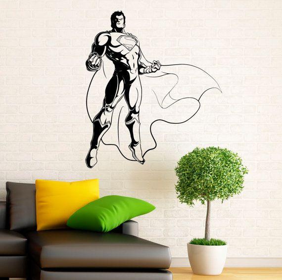 #Superman Wall Decal Vinyl Stickers Comics Superhero Interior Home Design  Wall Art Murals Bedroom Decor (10su01n) #affiliate | Comic/Superhero Art ...