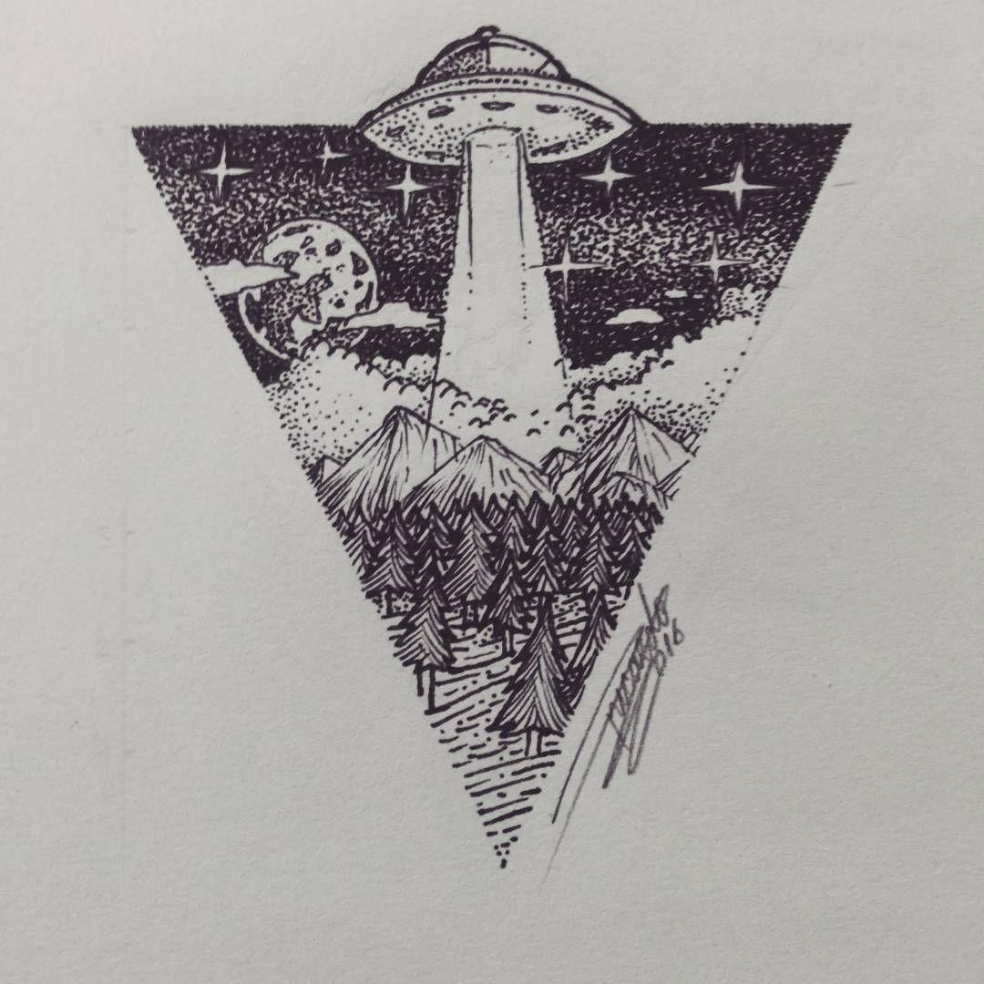 Alien Tattoo Drawings in Pencil