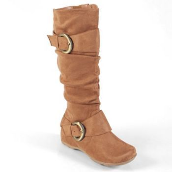 Journee Collection Jester Women/'s Soft Knee-High Buckle Boots