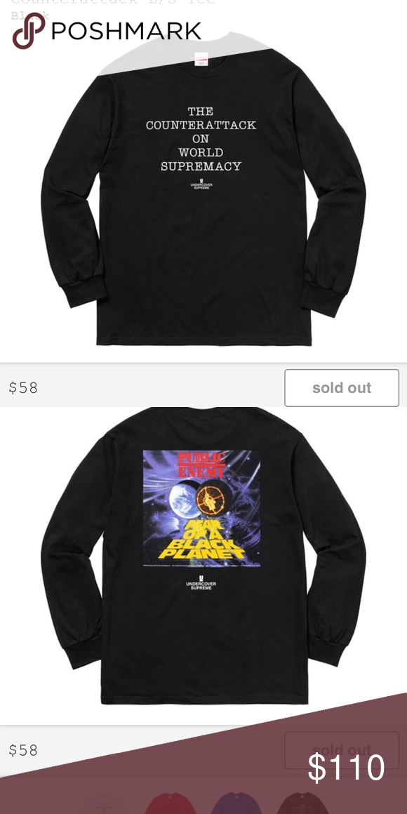 039c41a9b50a SUPREME UNDERCOVER/PUBLIC ENEMY COUNTERATTACK L/S This shirt is straight  🔥🔥.