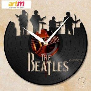 Relógio em disco de vinil The Beatles 02