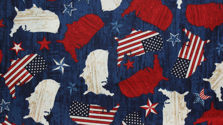 Umriss Usa Landkarte Usa Flagge Usa Stoff Landkarte Usa