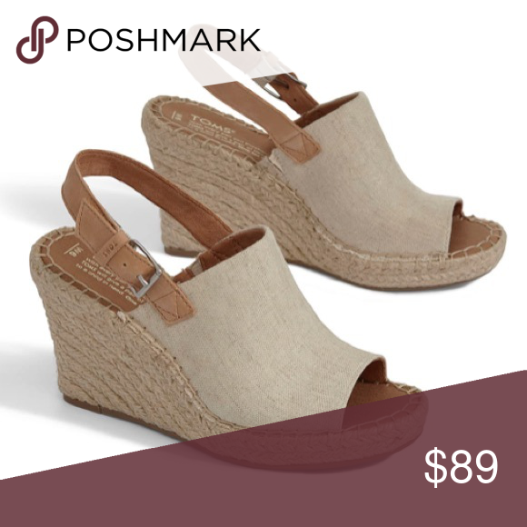 7a2c2d2385c2 TOMS MONICA ESPADRILLE WEDGE SANDAL NIB Mixing boho-chic flair with  off-duty style