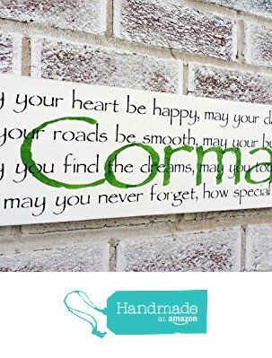 Name Signs In Wood Irish Baby Nursery Décor Customized Wall