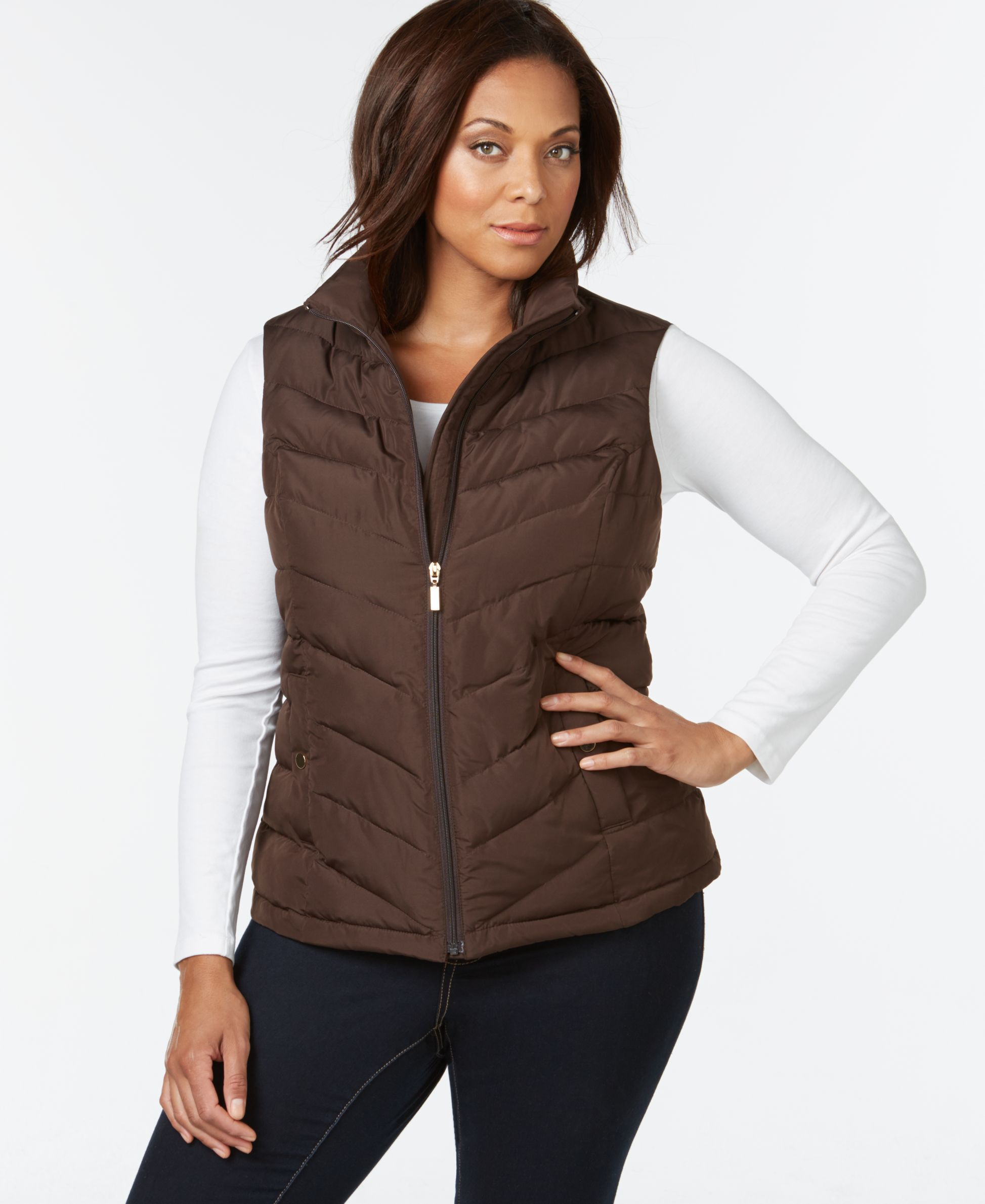 5dd4a080809 Charter Club Plus Size Chevron-Quilted Vest