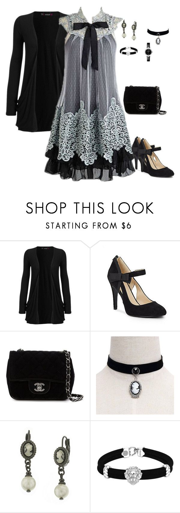 """""""AFDTEGH"""" by charactertickles ❤ liked on Polyvore featuring WearAll, Nine West, Chanel, 1928 and Tissot"""