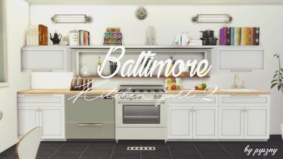 The Sims 4 Mody Kuchnia Baltimore Part 2 od Pyszny Design