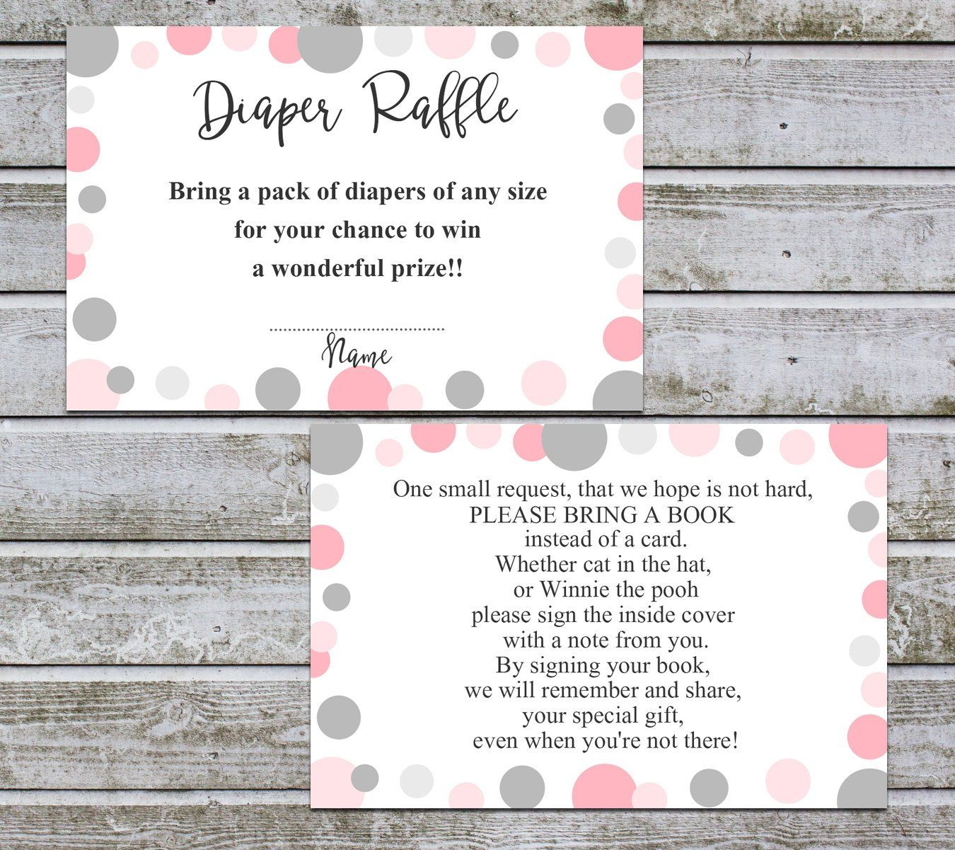 Book Request Card Diaper Raffle Printable Books For The Etsy