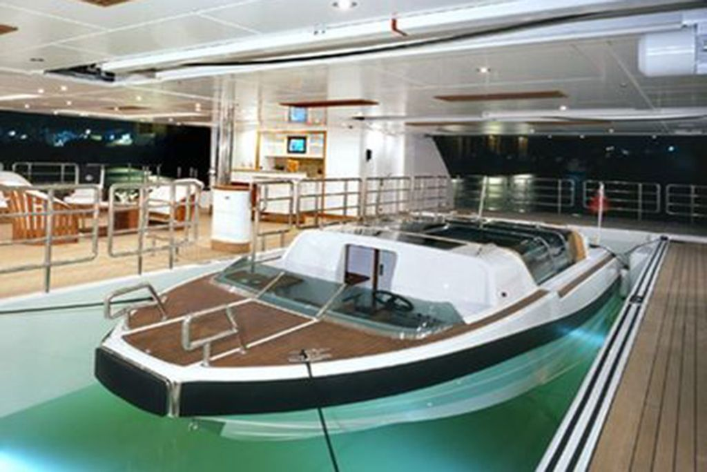 One Of The Most Important Features Of A Superyacht Is The Tender And Toy Garage It S The Area Of A Superyacht That Will Carr Luxury Yachts Yacht Design Yacht