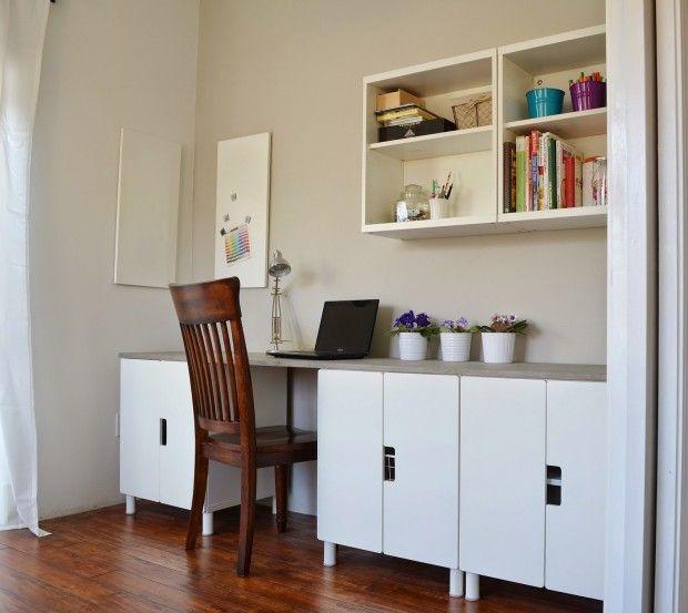 ikea hack bureau met betonnen werkblad pinterest ikea hacks hacks en bureaus. Black Bedroom Furniture Sets. Home Design Ideas