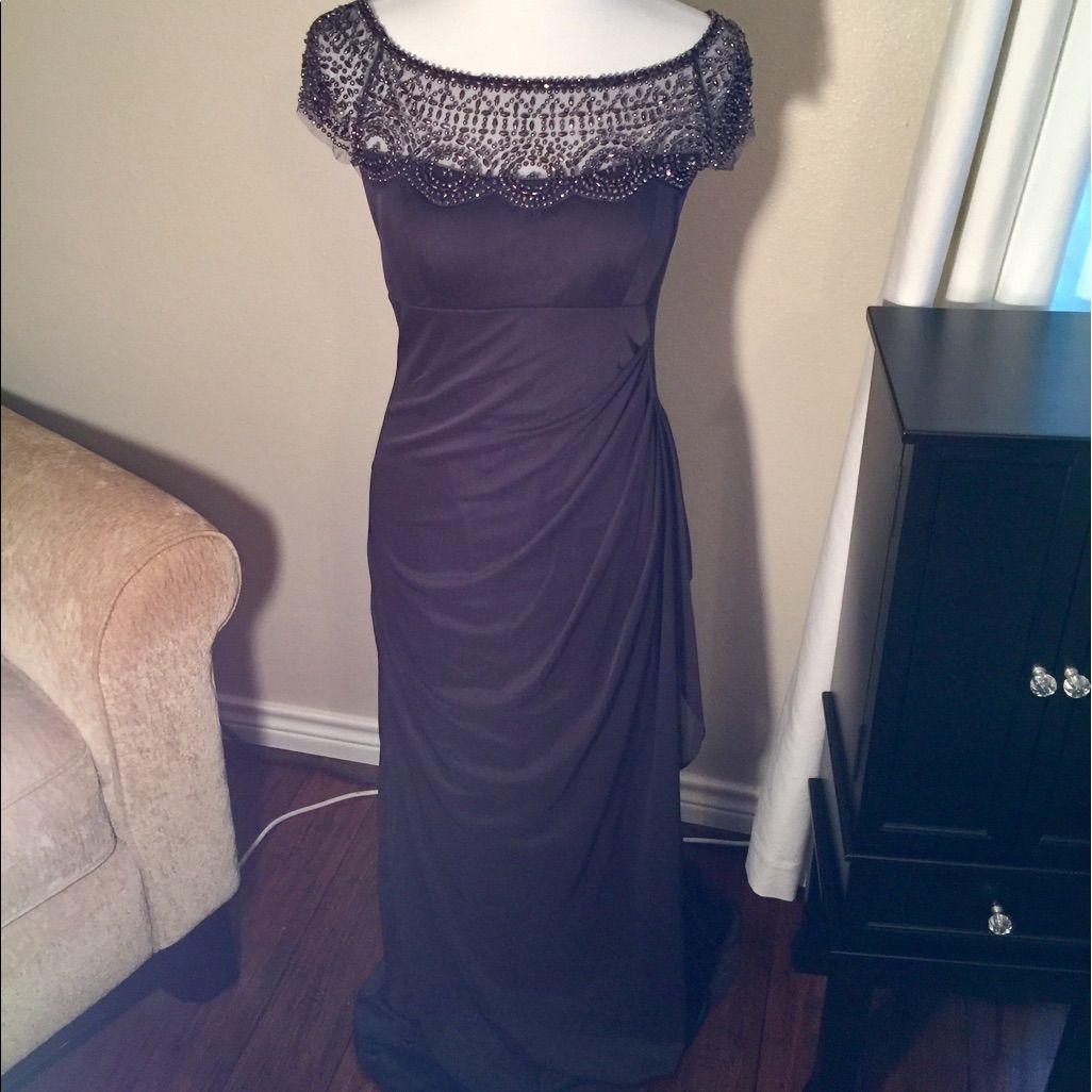 Formal Navy Full Length Dress