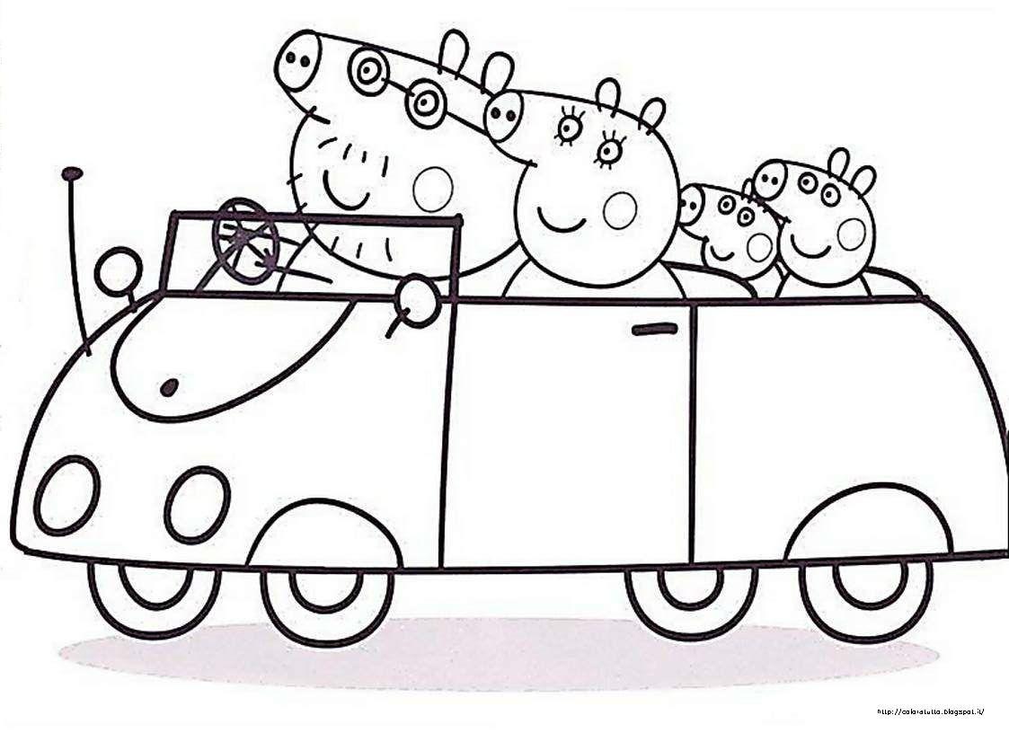 Peppa Pig con tutta la famiglia, in auto direzione ...