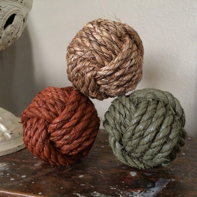 Decorative Rope Balls Decorative Rope Knot Balls Set Of 3 Bowlhighplainsknotwork