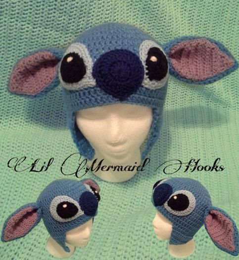 Lilo and Stitch Beanie by LilMermaidHooks on Etsy, $30.00