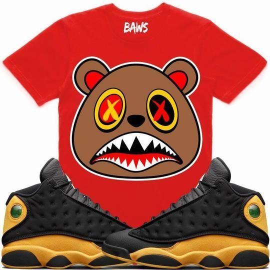 b6810d2d147a75 Baws T-Shirt HONEY BAWS Red Sneaker Tees Shirt - Jordan 13 Oak Hill Melo   Sneakers