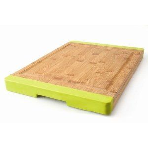 Board S Primary Use Is For Light Chopping And Cutting Durable Rectangular Bamboo Eco Friendly With Lime Green Silicone