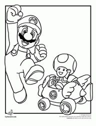 Mario And Toad Coloring Page Mario Coloring Pages Coloring