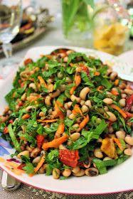 Şenlikli salata için Laleler salatası