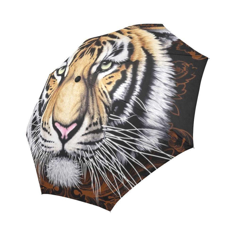 Tiger Face Auto-Foldable Umbrella
