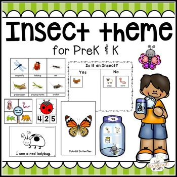 This Insect And Spider Theme Has 275 Pages Of Activities For Preschool And Kindergarten Save Yourself Hours On Insects Theme Insects Preschool Preschool Themes Bug themes for preschoolers
