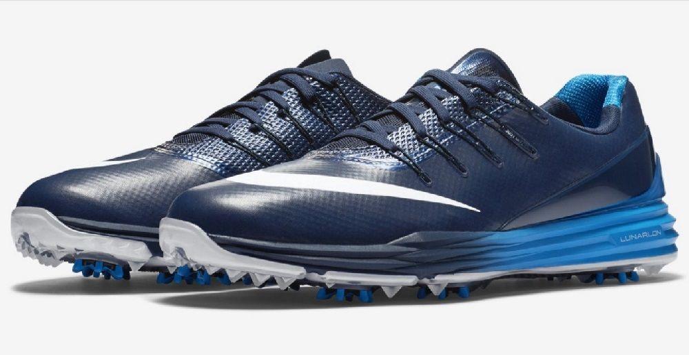 38eabe44828b Nike Men s Lunar Control 4 Golf Shoes 819037 400 Navy Photo Blue White Size  12  Nike  GolfCleats