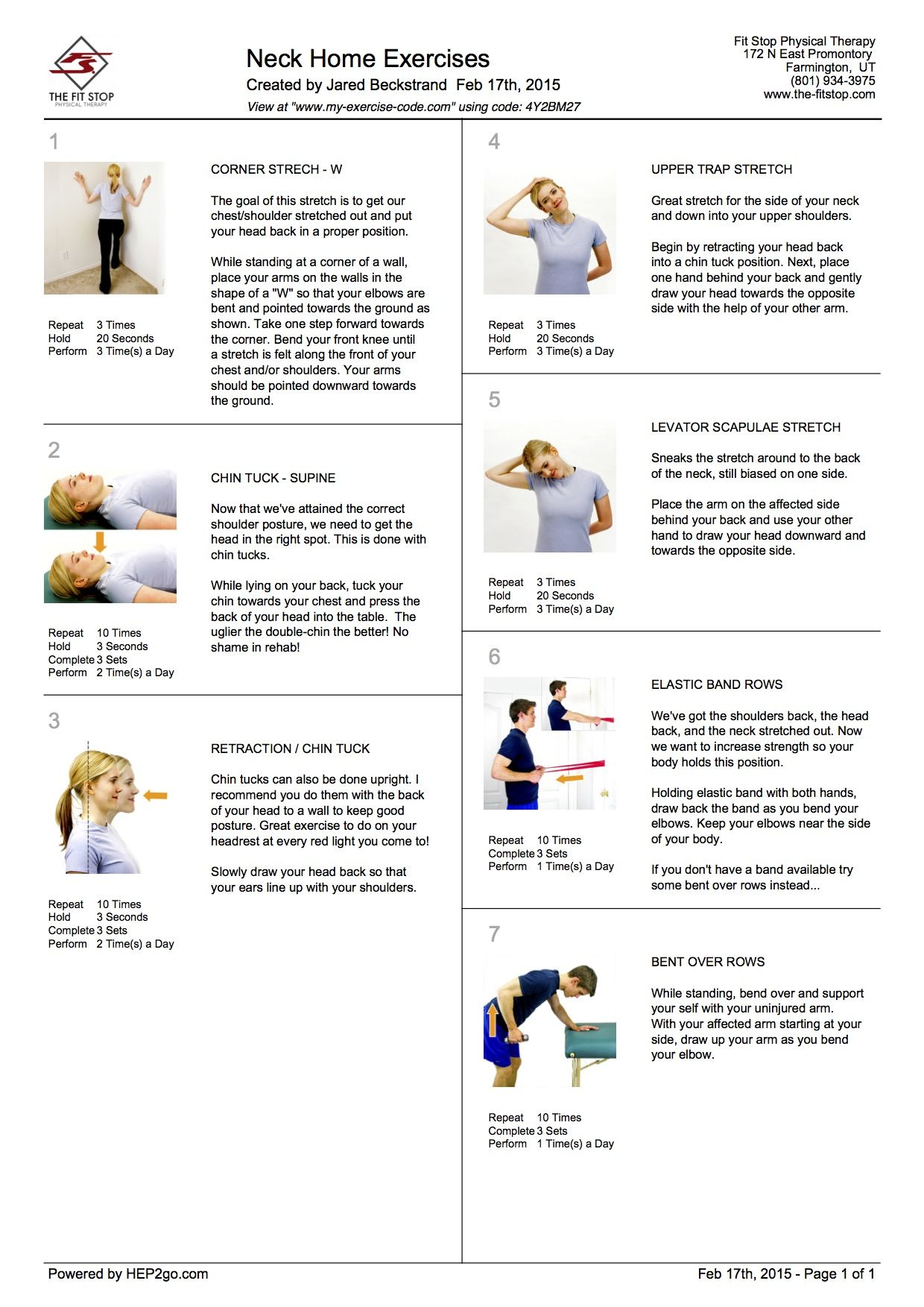 feel better now series – home exercises to treat neck pain – part 2